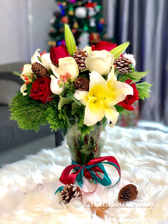 Merry Lily Christmas - Carnations Florist Malaysia