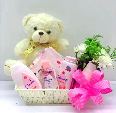 New Born Baby Girl Gift Set B - Carnations Florist Malaysia