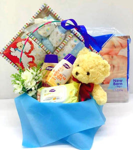 New Born Baby Boy Gift Set A - Carnations Florist Malaysia