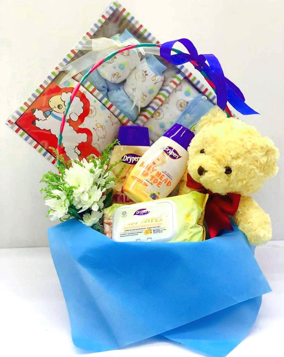 New Born Baby Boy Gift Set B - Carnations Florist Malaysia
