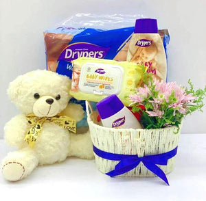 New Born Baby Boy Gift Set C - Carnations Florist Malaysia
