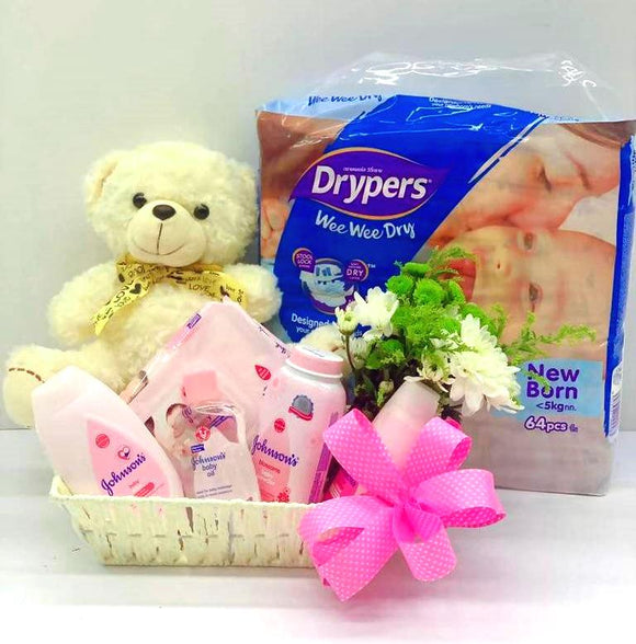 New Born Baby Girl Gift Set A - Carnations Florist Malaysia