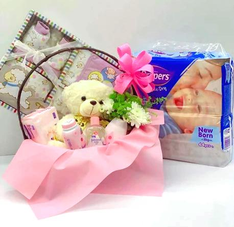 New Born Baby Girl Gift Set C - Carnations Florist Malaysia