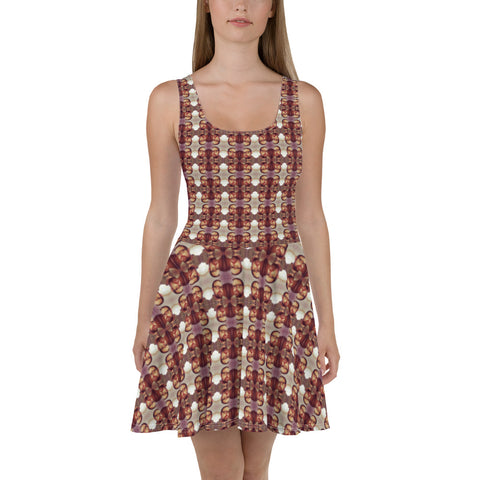 Matt Masur Pattern Skater Dress