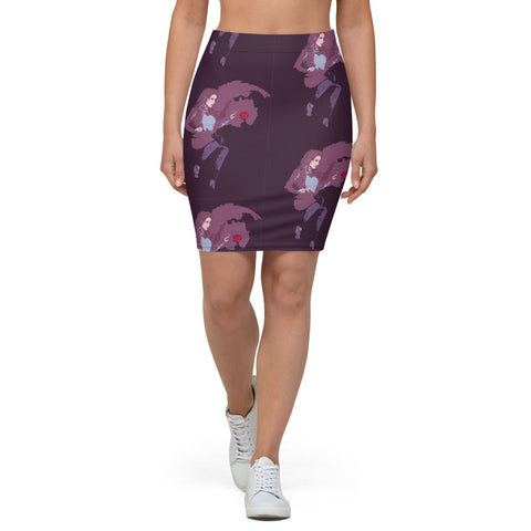 Rose Girl Pencil Skirt