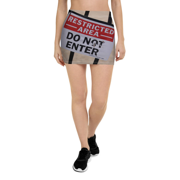 Do Not Enter Mini Skirt