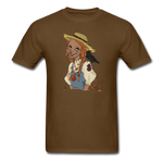 Scarecrow Girl by Liz B - Unisex Classic T-Shirt - brown