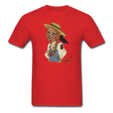 Scarecrow Girl by Liz B - Unisex Classic T-Shirt - red