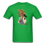 Scarecrow Girl by Liz B - Unisex Classic T-Shirt - bright green