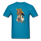 Scarecrow Girl by Liz B - Unisex Classic T-Shirt - turquoise