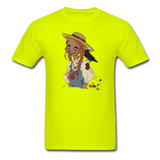 Scarecrow Girl by Liz B - Unisex Classic T-Shirt - safety green