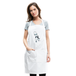 Ice Queen by Liz B - Adjustable Apron - white
