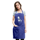 Ice Queen by Liz B - Adjustable Apron - royal blue
