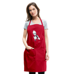 Ice Queen by Liz B - Adjustable Apron - red
