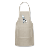 Ice Queen by Liz B - Adjustable Apron - natural