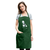 Ice Queen by Liz B - Adjustable Apron - forest green