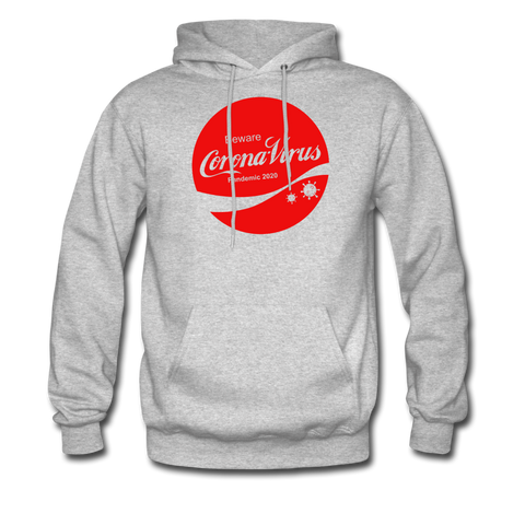 Corona Virus Coca-Cola Parody Hoodie - heather gray