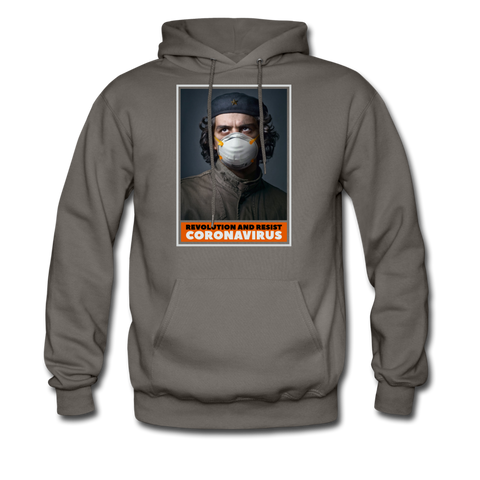 Revolution and Resist Coronavirus Che Hoodie - asphalt gray