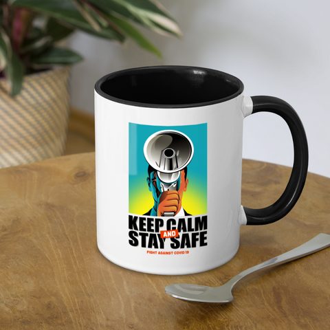 Keep Calm Stay Safe Coronavirus Coffee Mug - white/black
