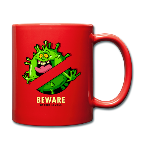 Beware of Coronavirus Mug - red