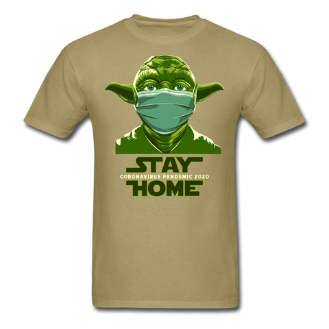 Stay Home Princess Yoda Star Wars Covid Unisex  T-Shirt - khaki