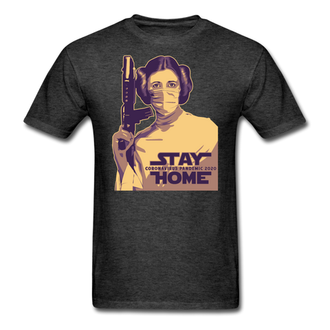 Stay Home Princess Leia Star Wars Covid Unisex T-Shirt - heather black
