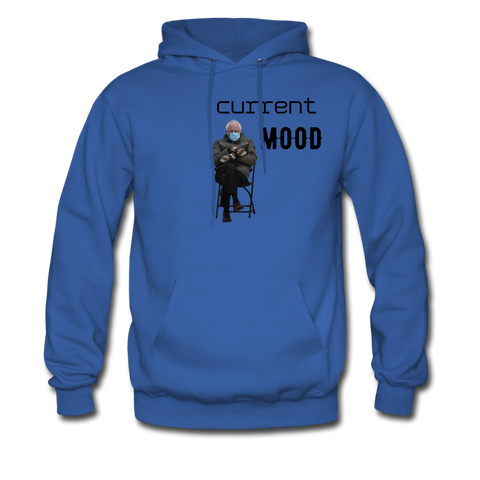 Bernie Mittens Current Mood Hoodie - royal blue