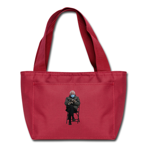 Bernie Mittens Lunch Bag - red