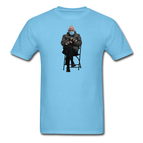 Bernie Mittens CUSTOMIZABLE T-Shirt - aquatic blue