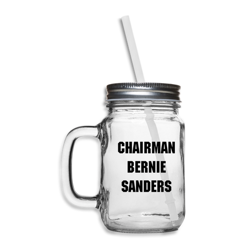 Chairman Bernie Sanders #BernieMittens CUSTOMIZABLE Mason Jar - clear
