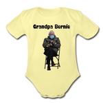 Grandpa Bernie Organic Short Sleeve Baby Onesie - washed yellow