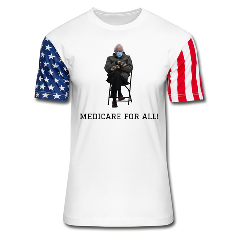 Medicare For All #BernieMittens Stars & Stripes T-Shirt - white