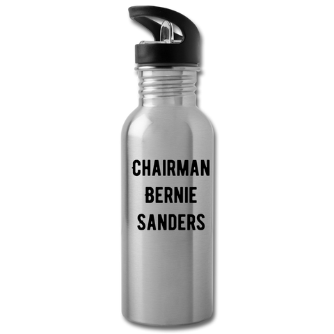 Chairman Bernie Sanders CUSTOMIZABLE Water Bottle - silver