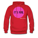 It's Fine Hoodie - red