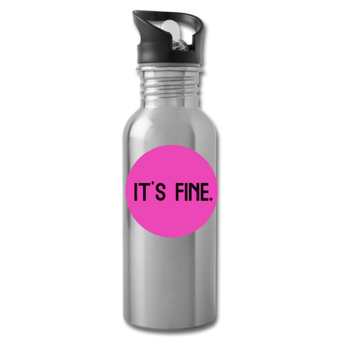 Makenzi Berg It's Fine Water Bottle - silver