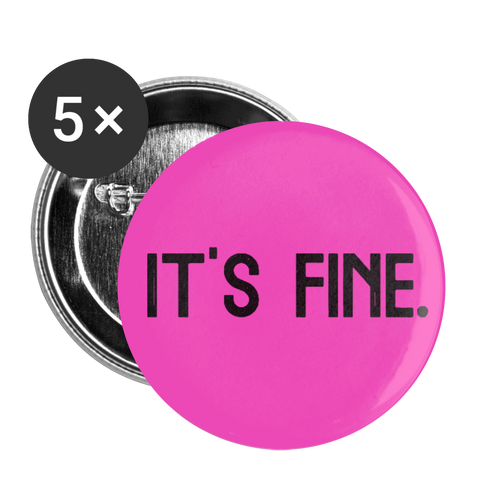 Makenzi Berg It's Fine Buttons large 2.2'' (5-pack) - white