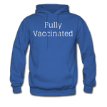 Fully Vaccinated Men's Hoodie - royal blue