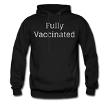 Fully Vaccinated Men's Hoodie - black