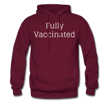 Fully Vaccinated Men's Hoodie - burgundy