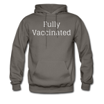 Fully Vaccinated Men's Hoodie - asphalt gray