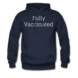 Fully Vaccinated Men's Hoodie - navy