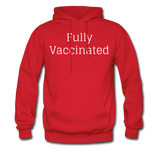Fully Vaccinated Men's Hoodie - red