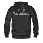 Fully Vaccinated Men's Hoodie - charcoal gray