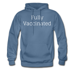 Fully Vaccinated Men's Hoodie - denim blue