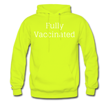 Fully Vaccinated Men's Hoodie - safety green