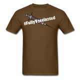 Fully Vaccinated Syringe Unisex Classic T-Shirt - brown