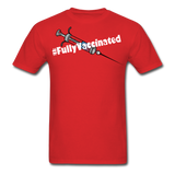 Fully Vaccinated Syringe Unisex Classic T-Shirt - red