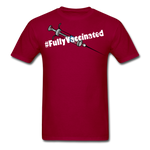 Fully Vaccinated Syringe Unisex Classic T-Shirt - dark red