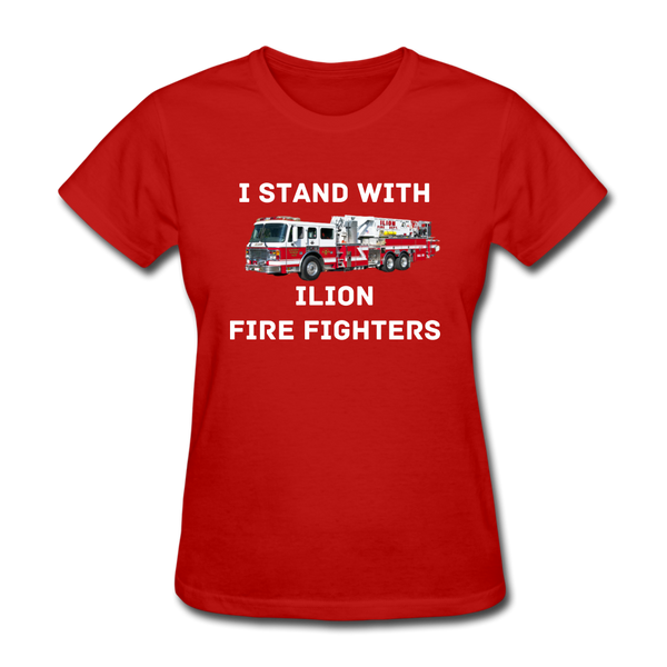 I Stand with Ilion Fire Fighters Women's T-Shirt - red