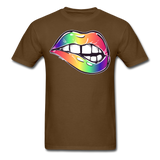 Mouth Unisex Classic T-Shirt - brown